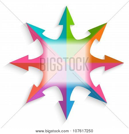 Design-element-white-background-compass-arrow