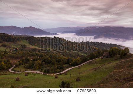 Romanian Cloudy Landscape