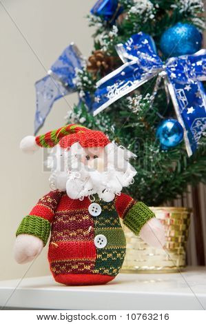 Christmas Interior Setting Decoration In Home