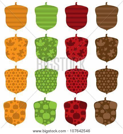Pattern Filled Acorns