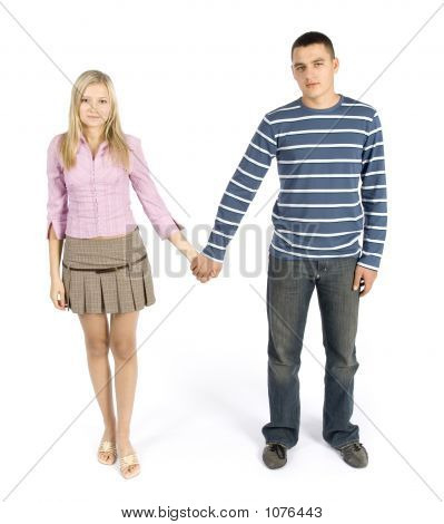 Young Couple Standing Together