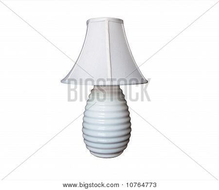Lamp White With Ribbed Base