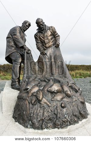Monument To Fisherman's Glory, Or Monument To Fishermen. Kamchatka