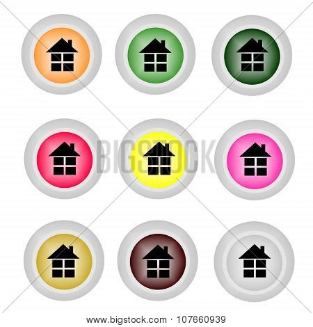 Home icon . Flat design vector illustration .