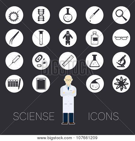 Sciense white icons