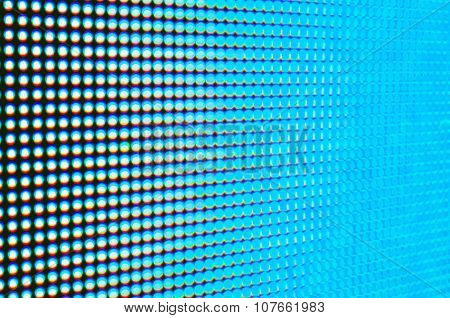 Abstract blur de-focussed blue led screen