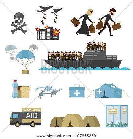 War victims. Refugees