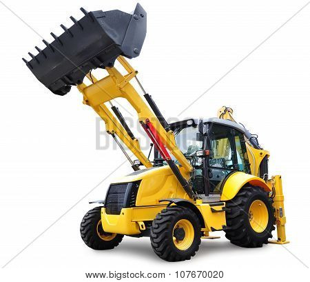 New Bulldozer, Isolated On White With Clipping Path