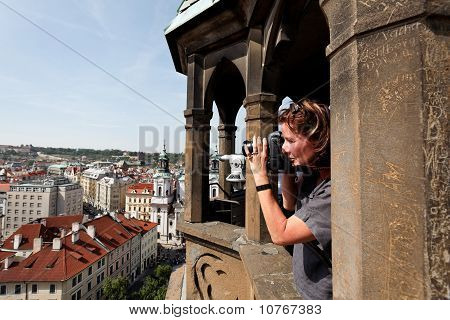 Parg, Old Town Square, Town Hall, view from tower