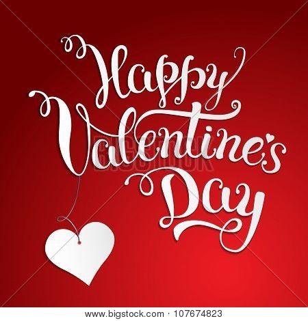 Original Hand Lettering  Happy Valentine's Day.