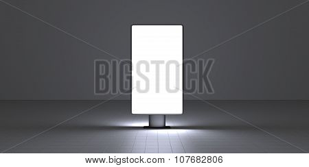 Vertical Screen On Dark Background Interiour Night