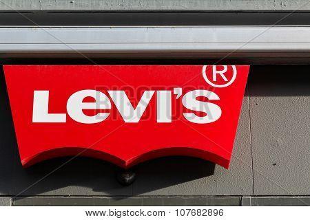Levi Strauss logo on a facade