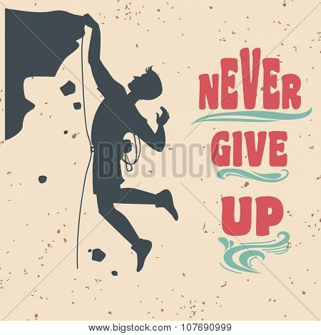 Motivational And Inspirational Typography Poster With Quote.