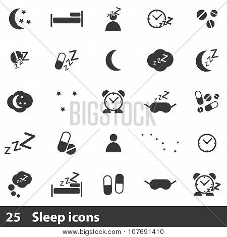 Sleep icons set use for any design
