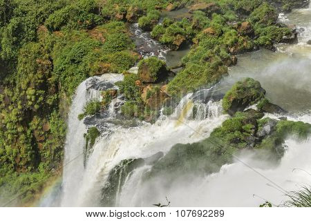 Waterfalls Landscape At Iguazu Park