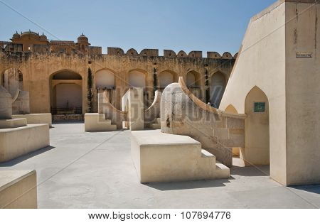 Architecture Of The Ancient Astronomical Instruments Of Observatory Jantar Mantar In Rajasthan, Indi