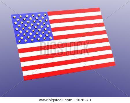 American Flag. 3D