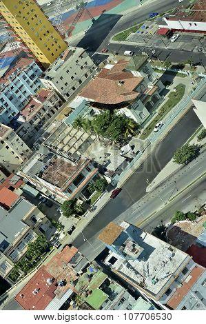 The American Vultures (cathartidae Lafresnaye) Soars Over Havana Cuba.