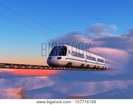 Train in the sky