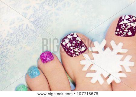 Winter manicure .