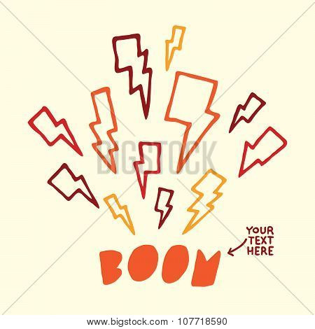 Thunderbolt target vector illustration