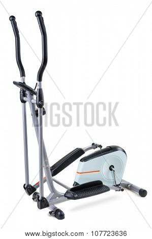 gym equipment, elliptical cardio trainer, isolated on white background