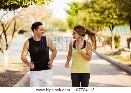 Running And Having Fun Together