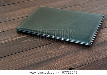 Business Leather Folder On The Office Desktop