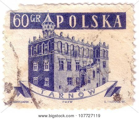 Poland - Circa 1958: A Stamp Printed In Poland From The