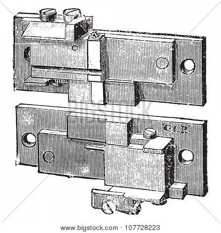 Mold, vintage engraved illustration. Industrial encyclopedia E.-O. Lami - 1875.