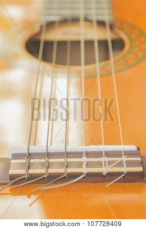 The components of the six-string guitar, musical-sounding music.
