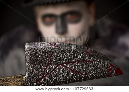 Sinister Bloodied Halloween Meat Cleaver