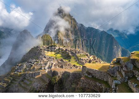 Machu Picchu UNESCO World Heritage Site. One of the New Seven Wonders of the World. poster