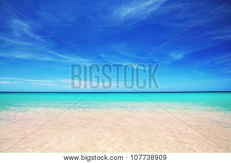 Landscape of paradise carribean sea