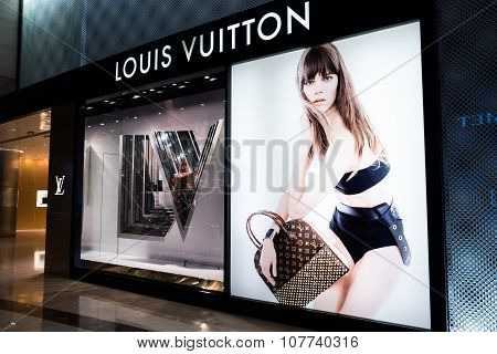 Louis Vuitton Fashion Boutique Display Window. Hong Kong