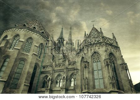 Roman Catholic Matthias Church In Budapest