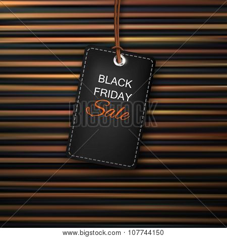 Black Friday Sales Tag. Stock Vector