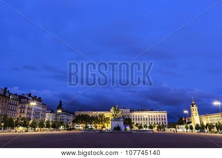 Place Bellecour In Lyon In France