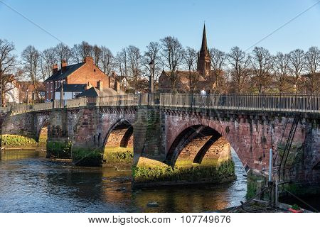 Grosvenor bridge is a stone arch bridge in Chester UK spanning over river Dee.