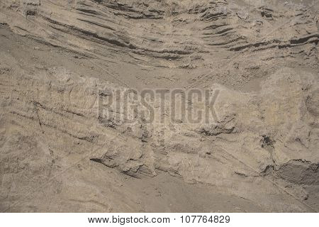 Layers of the volcanic soil from Bromo Volcano Java ,Indonesia. poster