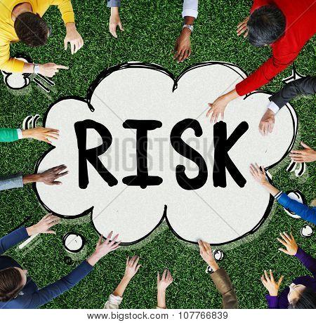 Risk Dangerous Gamble Unsure Concept