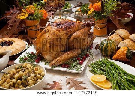 Rustic Thankgiving Dinner