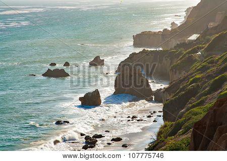Beautiful and romantic El Matador Beach in Malibu