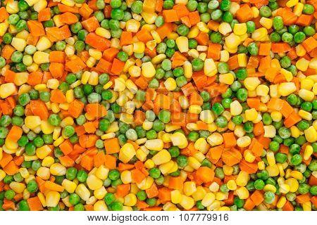 Frozen Diced Vegetables Background