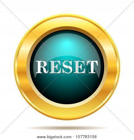 Reset icon. Internet button on white background. poster