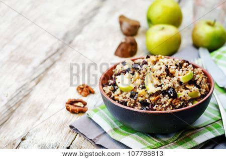 Eggplant Quinoa Apples Dried Cranberry Salad