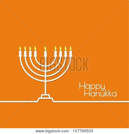 Jewish Menorah icon.