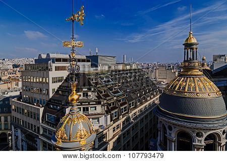 Aerial View From The Terrace Of Store Printemps, Paris