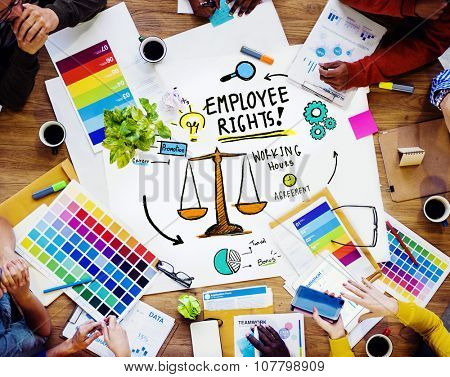 Employee Rights Employment Equality Job Design Meeting Concept poster