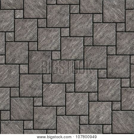 Gray with Scuffed Pavement Square Shape.